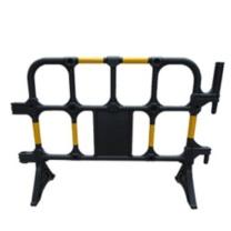 安赛瑞 组合式塑料铁马护栏 12861 1×1.4m (黄/黑) (5个起订)