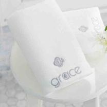 洁丽雅 grace 纯色毛巾 8642 80*36cm 110g (白色)