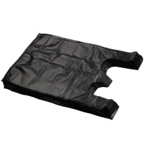 国产 背心垃圾袋 36*56cm (黑色) 100扎/箱 (新老包装交替以实物为准)