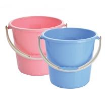 国产 无盖塑料水桶 23.5*20.5cm (混色) 50个/箱 (新老包装交替以实物为准)