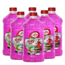 龟牌 樱桃爽虫胶玻璃水G-4040-6 夏季虫胶雨刮水0℃ 2L  6瓶/组