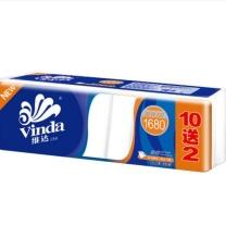 维达 vinda 维达卷纸卫生纸 V4457 140g*12卷/1680g