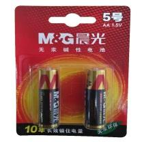晨光 M&G 碱性电池 ARC92554 5号  2节/卡 30卡/箱 吸卡