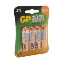 超霸 GP 碱性电池 15A-L4 5号  4节/卡