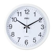 得力 deli 挂钟 9005 直径30cm (白色) 4个/箱 (仅上海可售)