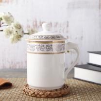 敏杨 陶瓷茶杯 水蕴晗香2号 口径8.3cm高14.3cm 420ml  (10个起订)