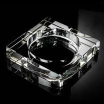 科力普 COLIPU 方形水晶直孔烟灰缸