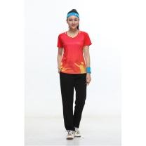 励扬 励扬 女装运动服 S号 RY-383136 S 100%聚酯纤维 (中国红/荧光黄/宝石蓝)