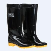 强鹰 长筒耐酸碱雨鞋 38CM 42码 (黑色)