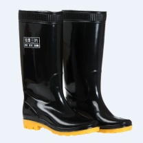 强鹰 长筒耐酸碱雨鞋 38CM 43码 (黑色)