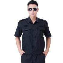 国产 夏季工作服套装 M (黑色)