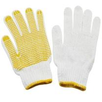 护善 掌心带胶粒白色棉线手套 750g/包  12付/包