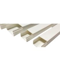 森凡 PVC线槽阻燃绝缘 地线墙线配线槽 电线走线槽导线槽 网络电缆桥架线槽 单根 60*40mm 2米 (DC 10根起订)