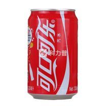 可口可乐 Coca'Cola 碳酸饮料 330ml/罐  24罐/箱 (经典款)