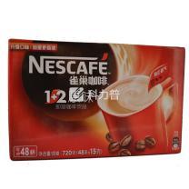 雀巢 Nestle 1+2速溶咖啡 15g/袋  48袋/盒 12盒/箱 (原味12盒/箱)