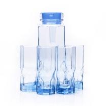 乐美雅 八角钻石水具五件套 LC-P01E  壶1.1L*1 杯子280ml*4(MOQ:4)