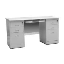 红港 HG 双柜办公桌 HG-620 H750*W1400*D700 (灰白色)