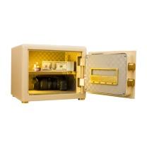 鑫辉全钢精锐指纹系列30豪华型保管箱 H330*W420*D300 (棕皮纹) 北京五环内含运,其余地区运费另询。