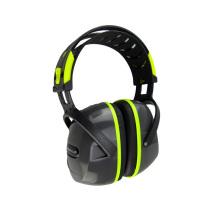 代尔塔103009隔音耳罩 F1英特拉各斯防噪音耳罩 可搭配降噪耳塞 荧光黄 1副装