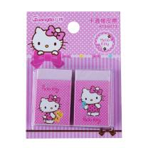 广博(GuangBo)学生橡皮擦卡通粉色凯蒂猫KT86073 2块装