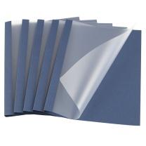 金典 GOLDEN 金典 GOLDEN 热熔封套 热熔装订机专用装订封皮A4/4MM蓝色布纹磨砂(20个/盒)25-36页装订 4MM蓝色磨砂
