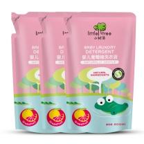 宝宝洗衣液 英国小树苗 儿童婴儿葡萄柚洗衣液皂液A套装 补充包袋装500ml*3包 宝宝 葡萄柚1.5L