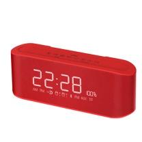 伊酷尔 伊酷尔(IFKOO)Q9无线蓝牙音箱家用闹钟迷你小音响手机车载低音炮显示屏便携音箱 红色 红色