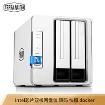 铁威马 铁威马(TerraMaster)F2-220 intel双核2.4G 2G内存 双盘NAS千兆网络存储 私有云存储服务器 F2-220/Intel双核2.4GHz+2G内存