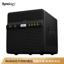 群晖 Synolog 群晖(Synology)DS418j 4盘位 NAS网络存储服务器 (无内置硬盘) DS418j【新品-个人及家庭】