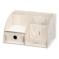 齐心 Comix 齐心(Comix) B2231 多功能木质创意组合收纳盒/储蓄盒 办公文具
