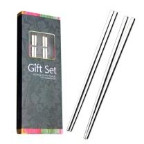阳光飞歌 阳光飞歌 304不锈钢筷子 韩式不锈钢实心扁筷子2双套装 1192