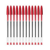 比克 BiC BIC比克 Cristal 经典圆珠笔PenBeat 1.0mm红色 12支 进口文具原子笔中油笔 红色