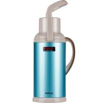 SIMELO SIMELO(施美乐)印象京都玻璃内胆新上海保温壶 热水壶 保温瓶 开水瓶3200ML(蓝色) 3.2L蓝色升级加厚