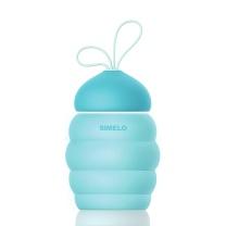 SIMELO SIMELO(施美乐) 水杯 首尔风情萌物小蜜蜂玻璃杯子300ml(蓝色) 小蜜蜂杯300ml(蓝色)