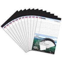 凯萨 凯萨(KAISA) 拍纸本legalpad拍纸簿美式笔记本50张A5 (127*203mm)12本装KS-00561 A5 白纸12本装