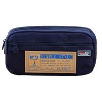 晨光 M&G 晨光(M&G)文具蓝色多功能多层大号笔袋文具盒铅笔收纳袋 单个装APB93598 蓝