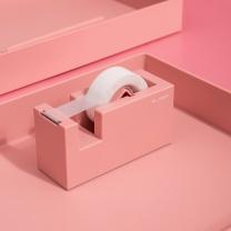 纽赛 NUSIGN 纽赛(NUSIGN)创意胶带座 胶带纸切割器 桌面摆件 珊瑚红NS121 胶带座-粉
