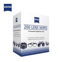 相机清洁 蔡司(ZEISS)镜头清洁 眼镜纸巾 镜片清洁 擦镜纸 擦眼镜 擦相机 消毒湿巾 清洁湿巾200片装 200片装