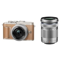 奥林巴斯(OLYMPUS)E-PL9 14-42mm EZ+40-150mm R 棕色 EPL9微单电/数码相机 美颜自拍 双镜头套装 棕色