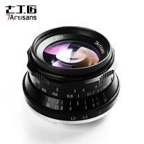 七工匠 七工匠(7artisans)35mm F1.2 人文手动定焦微单镜头APS-C画幅 适用松下/奥林巴斯微单相机(M4/3口 黑色)