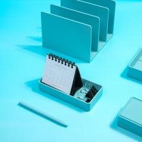 纽赛 NUSIGN 纽赛(NUSIGN)办公桌面收纳盒文件盘 文具收纳盘文具篮 小号新桥蓝NS029 收纳盘-蓝