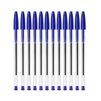 比克 BiC BIC比克 Cristal 经典圆珠笔PenBeat 1.00mm蓝色 12支 进口文具原子笔中油笔 蓝色