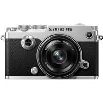奥林巴斯(OLYMPUS)PEN-F-1718K(定焦镜头套装) 银色 PENF 微单电/数码相机 经典复古 单镜头套装 银色