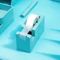 纽赛 NUSIGN 纽赛(NUSIGN)创意胶带座 胶带纸切割器 桌面摆件 新桥蓝NS121 胶带座-蓝