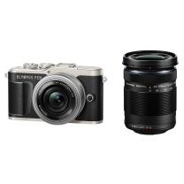 奥林巴斯(OLYMPUS)E-PL9 14-42mm EZ+40-150mm R 黑色 EPL9微单电/数码相机 美颜自拍 双镜头套装 黑色