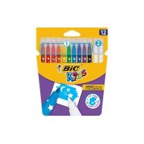 比克 BiC BIC比克Kids儿童魔法可擦水彩笔(10色+2支可擦笔)进口文具 儿童学生绘画画画水彩笔 10色+2