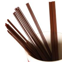 特美居 一次性吸管双排两孔深色塑料咖啡搅拌棒100只装17cm热饮管细吸管独立包装 TMJ-771 咖啡搅拌棒
