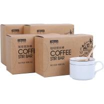 唐宗筷 一次性咖啡搅拌棒 木质咖啡调棒 14cm 1000支 C6656