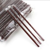 焙印 一次性咖啡吸管 双排两孔咖啡搅拌棒18CM 热饮管细吸管独立包装100 支