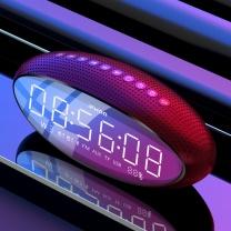 伊酷尔 伊酷尔(IFKOO) Q3蓝牙音箱台式机电脑超重低音炮大音量车载手机家用电视智能闹钟收音机迷你小音响 红色-双大喇叭+低音振摸+超长待机 红色-双大喇叭+低音振摸+超长待机